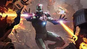 2020, iron, man, fire, blaster, superheroes, 4k, hd, movies, wallpapers