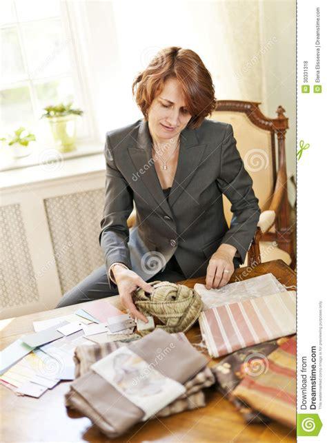 female interior designer royalty  stock  image