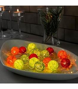 Boule Lumineuse Guirlande : guirlande lumineuse 16 diodes led boules de coton ~ Teatrodelosmanantiales.com Idées de Décoration