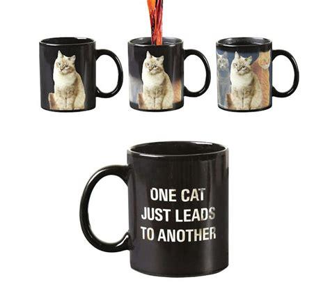 cat leads   heat changing mug