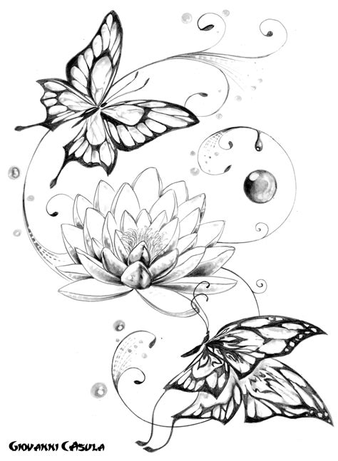 Peacock And Flower Drawing Tattoo at GetDrawings.com | Free for personal use Peacock And Flower