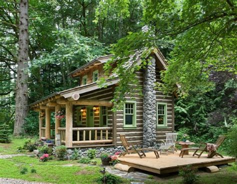 tiny house designsa fairy tale log cabin