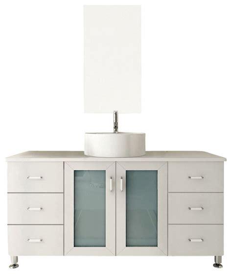 single vanity cabinet with vessel sink grand lune white single vessel sink modern bathroom vanity