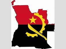 Angola Flag Map • Mapsofnet