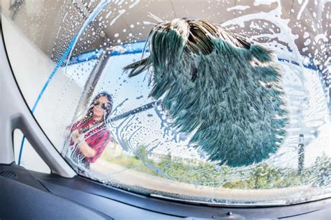 wash rv brush washing inside woman clean windshield interior brushes rig depositphotos handle young flow