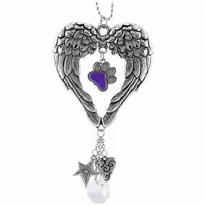 Wings of an Angel Purple Paw Car Charm : The Animal Rescue ...