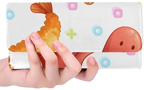 In japan, amazon faces tight competition from rakuten. Rfid Blocking Purse Wallets Card Holder Kawaii Japan Tempura Shrimp Long Wallets Trifold Leather ...