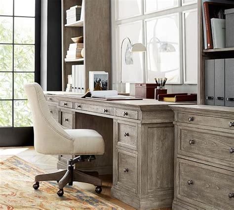 pb desk livingston executive desk pottery barn