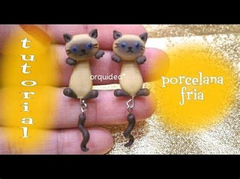 siamese cat polymer clay dangle earrings tutorial puppy polymer clay polymer