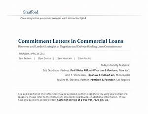 commitment letters in commercial loans borrower and lender With commercial mortgage loan commitment letter sample