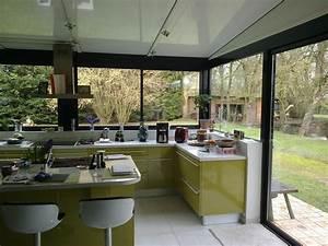 Cuisine dans une veranda extension maison pinterest for Cuisine dans veranda photo