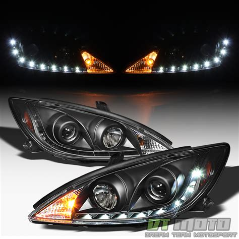 Toyota Camry Headlights by Black 2002 2006 Toyota Camry Daytime Led Running Ls Drl