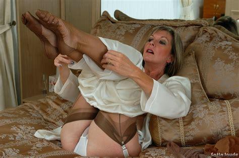 Sleeping Beauty In Silk And Nylon Lingerie Moms