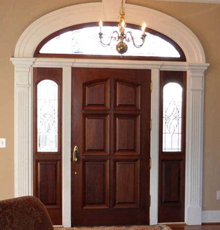 contoh desain pintu utama rumah  kayu jati