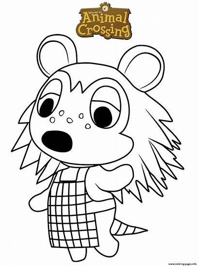 Crossing Animal Coloring Sable Pages Printable Bubakids