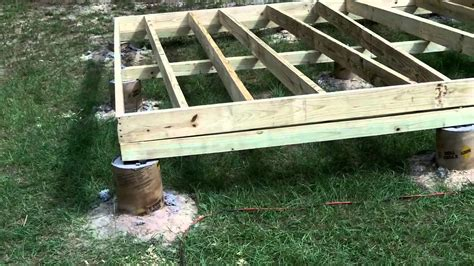 building a shed on concrete piers diy shed part 2 floor