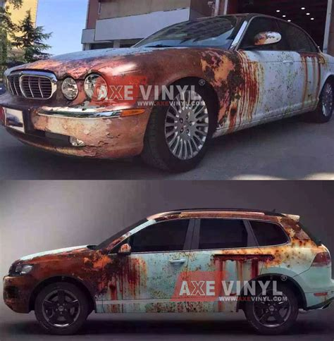 vinyl wrap rust rusty camouflage patina wraps paint cars auto material wrapping sticker axevinyl bmw custom wheels painting rat vw