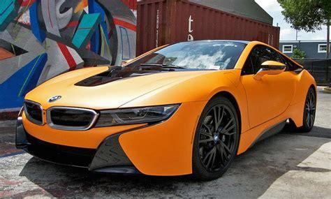Modifikasi Bmw I8 Coupe by Matte Orange Bmw I8 Looks Candylicious