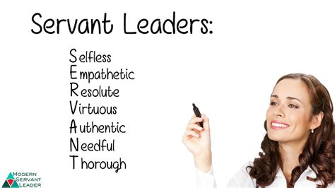 servant leadership acronym definition