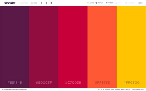 color pallete generator tropical color scheme for the weather color