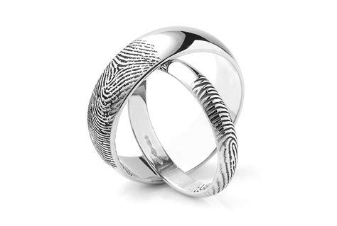 fingerprint wedding rings unique fingerprint rings in 5 easy steps