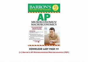 Barron U0026 39 S Ap Microeconomics  Macroeconomics  Pdf