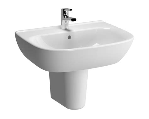 vitra zentrum mm  tap hole basin  semi pedestal