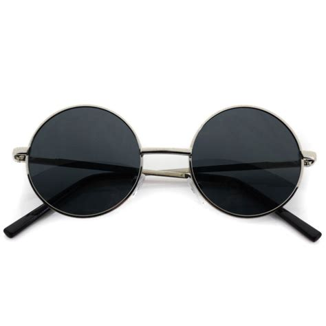 black l shades amazon sunglasses john lennon silver black lens round hippie