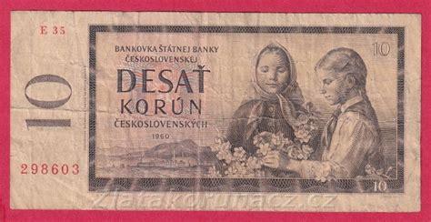 Československo - 10 korún - 1960 E 35 - Numismatika Zlatá ...