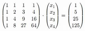 Inverse Matrix Berechnen Mit Rechenweg : lineare gleichungssysteme l sen sie das folgende lineare gleichungssystem mit dem gau ~ Themetempest.com Abrechnung