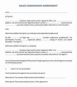 sales agreement 6 free pdf doc download With sales commission contract template free