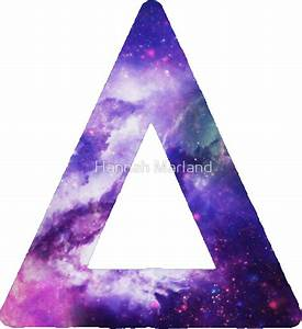 Galaxy Hipster Triangle Tumblr: Stickers | Redbubble