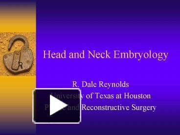 head  neck embryology powerpoint
