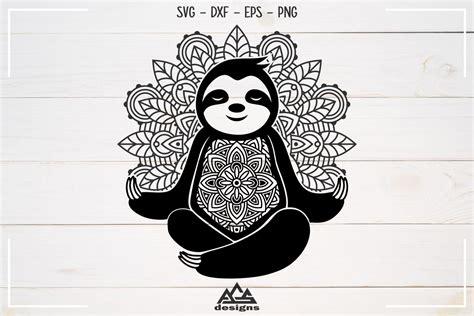 Indian ornament set free vector. Sloth Mandala Zentangle Svg Design By AgsDesign ...