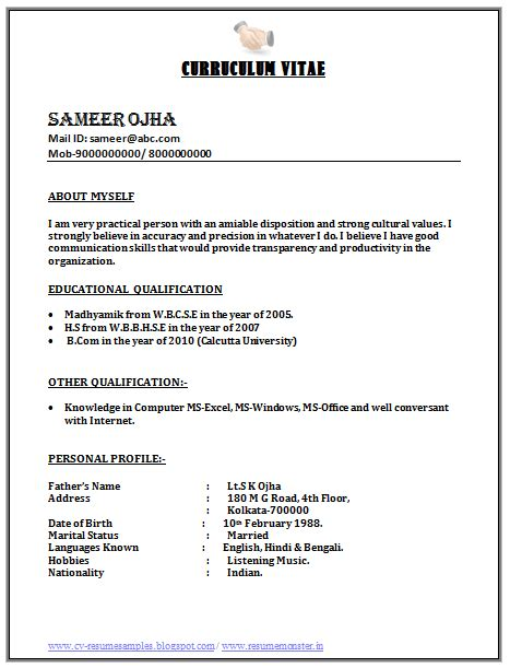 Resume Format For Call Center by Image Result For Call Center Resume Format For Freshers