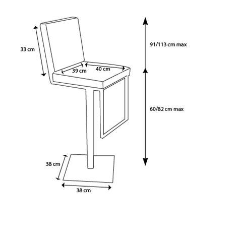 hauteur plan de travail cuisine standard tabouret de bar moderne réglable en hauteur zib mobilier