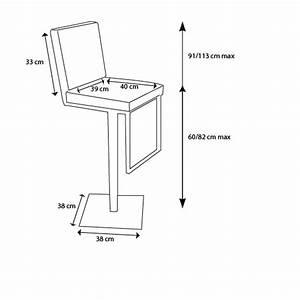 Hauteur D Assise : tabouret de bar moderne r glable en hauteur zib mobilier ~ Premium-room.com Idées de Décoration