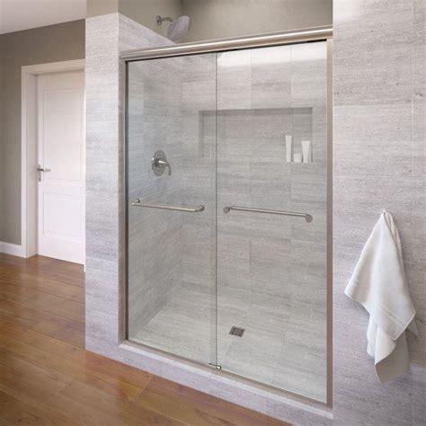 sliding frameless shower doors basco infinity 47 in x 70 in semi frameless sliding