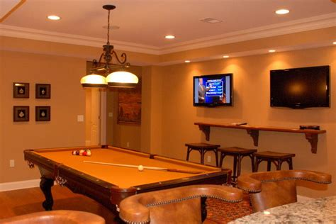 billiard room  tvs warren nj traditional