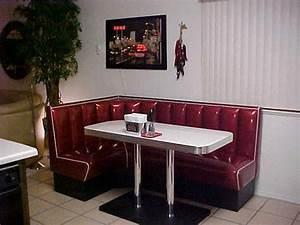 L Shaped Diner Booths  Restaurant  Diner  Kitchen  1950 U0026 39 S