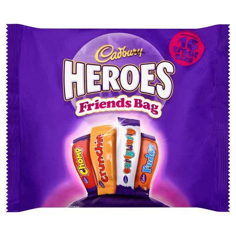 Cadbury Friends Heroes 16 Treatsize Packs 225g   Boxed Chocolates   Chocolate & Sweets   Food