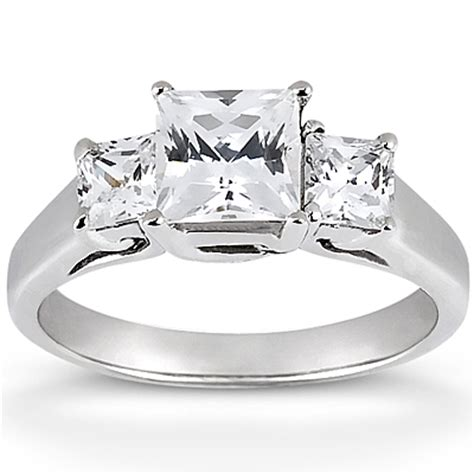 clarionfinejewelry three square cut engagement ring