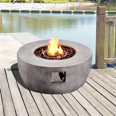 For replacement parts or if further help is. Peaktop Outdoor Garden Patio Round Concrete Propane Gas Fire Pit HF36501AA-UK - Teamson Home UK