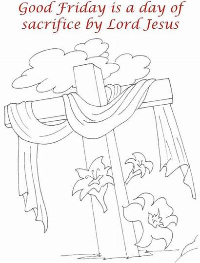 Friday Coloring Pages Printable Sacrifice Worksheets Colouring