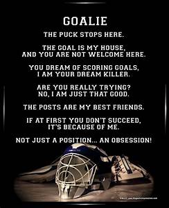 hockey goalie poems | Similar Galleries: Lacrosse Quotes ...