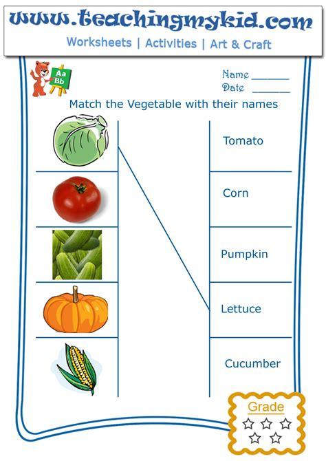 easy vegetables worksheet goodsnyc