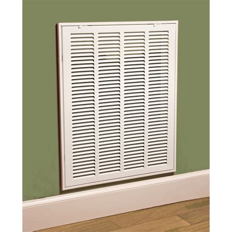 alpine ventilation 405 x 630mm white steel return air grille