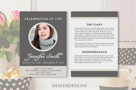 Funeral Program Template Funeral Program Template Gray Brochure Templates