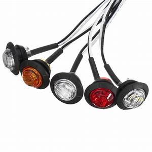 12v  24v Mini Round Led Bullet Button Side Marker Lights