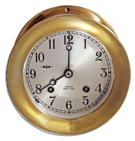 chelsea ships clock lot detail captain kangaroo owned chelsea ship s bell clock 2138